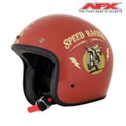 CASQUE JET MOTO AFX FX76 SPEED RACER VINTAGE ROUILLE BRILLANT/OR