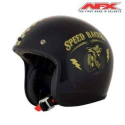 CASQUE JET MOTO AFX FX76 SPEED RACER VINTAGE NOIR/OR BRILLANT