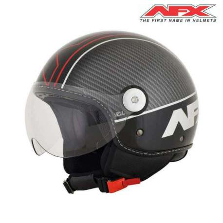 Casque Jet Afx Scooter Fx33 Veloce Gloss Noirrouge Vospieces2roues