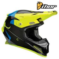 CASQUE CROSS TOUT TERRAIN THOR SECTOR SHEAR NOIR/ACIDE