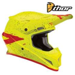 CASQUE CROSS TOUT TERRAIN THOR SECTOR HYPE ACIDE/ROUGE