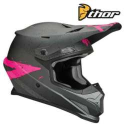 CASQUE CROSS TOUT TERRAIN THOR SECTOR HYPE CHARCOAL/ROSE