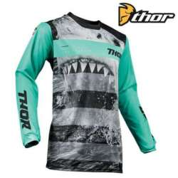 MAILLOT MOTO CROSS ENFANT THOR PULSE SAVAGE JAWS NOIR/VERT