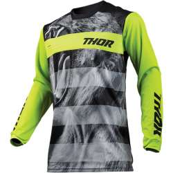 Maillot moto cross homme Thor Pulse Savage Big Kat noir / lime