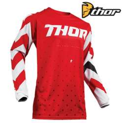 MAILLOT MOTO CROSS ENFANT THOR PULSE STUNNER ROUGE/BLANC