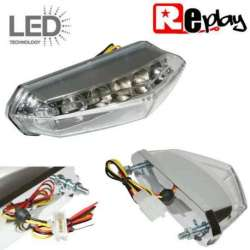 FEU ARRIERE CHROME CRISTAL A LED DERBI SENDA DRD X-RACE X-TREME HOMOLOGUE CE E11