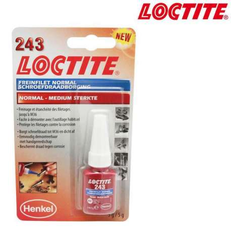FREIN FILET NORMAL LOCTITE 243 FLACON 5ml MOTO MAXI SCOOTER CROSS QUAD MOBYLETTE