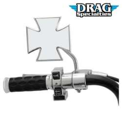 RETROVISEUR MOTO DROIT OU GAUCHE CHROME MALTAIS SUPPORT ROND DRAG SPECIALTIES