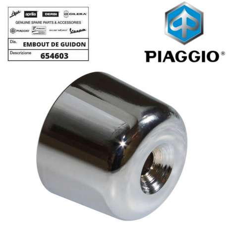1 EMBOUT DE GUIDON CHROME ORIGINE PIAGGIO MP3 125 250 300 400 500 DROIT GAUCHE