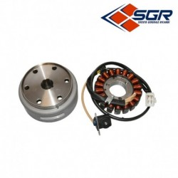 STATOR ALLUMAGE SGR 18 POLES APRILIA 125 SCARABEO LIGHT CARBURATEUR 2007-2009