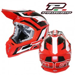 CASQUE CROSS MX PROGRIP 3180 ROUGE / BLANC