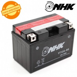 BATTERIE MF SANS ENTRETIEN YTX12A-BS NHK 12V 10Ah Lg150xL87xH104mm + PACK ACIDE