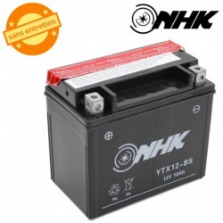 BATTERIE MF SANS ENTRETIEN YTX12-BS NHK 12V 10Ah Lg151xL87xH131mm + PACK ACIDE