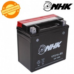 BATTERIE MF SANS ENTRETIEN YTX14-BS NHK 12V 12Ah Lg151xL87xH147mm + PACK ACIDE