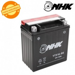 BATTERIE MF SANS ENTRETIEN YTX16-BS NHK 12V 14Ah Lg150xL87xH159mm + PACK ACIDE