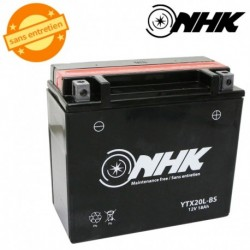 BATTERIE MF SANS ENTRETIEN YTX20L-BS NHK 12V 18Ah Lg175xL87xH155mm + PACK ACIDE