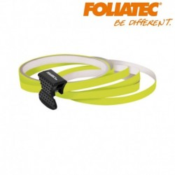 LISERET JAUNE FLUO 6mm DE LARGE SUR 4x 2,15m DE LONG JANTE CARENAGE MOTO SCOOTER