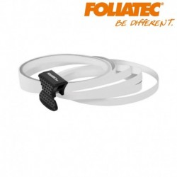 LISERET BLANC 6mm DE LARGE SUR 4x 2,15m DE LONG JANTE CARENAGE MOTO SCOOTER QUAD
