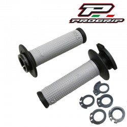 REVÊTEMENT POIGNÉE PROGRIP 708 FIXATION LOCK ON GRIS/NOIR MOTO CROSS ENDURO MX