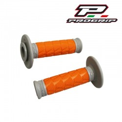 Revêtement poignée PROGRIP 783 Off Road double densité Gris / Orange Moto cross Enduro MX