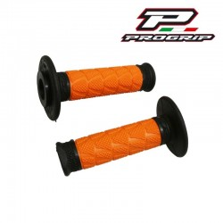 Revêtement poignée PROGRIP 783 Off Road double densité Noir / Orange Moto cross Enduro MX