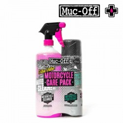 Kit entretien MUC-OFF Care Duo nettoyant protection moto