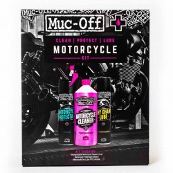 Kit entretien Muc-OFF Motorcycle Clean Protect & Lube nettoyant protection lubrifiant moto