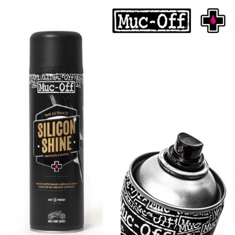Spray de protection MUC-OFF Motorcycle Silicon Shine 500 ml