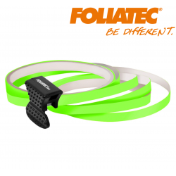 LISERET VERT FLUO 6mm DE LARGE SUR 4x 2,15m DE LONG JANTE CARENAGE MOTO SCOOTER