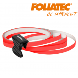 LISERET ROUGE FLUO 6mm DE LARGE SUR 4x 2,15m DE LONG JANTE CARENAGE MOTO SCOOTER