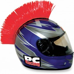 Crète de casque moto scooter PC Racing Mohawk rouge