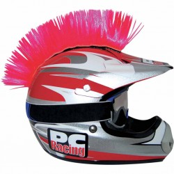 Crète de casque moto scooter PC Racing Mohawk rose