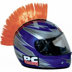 Crète de casque moto scooter PC Racing Mohawk orange