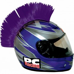 Crète de casque moto scooter PC Racing Mohawk violet