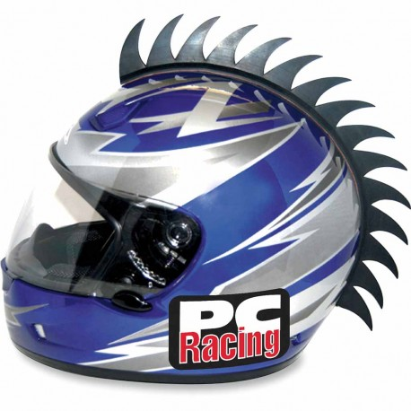 Crète rigide de casque moto scooter PC Racing Blades noir