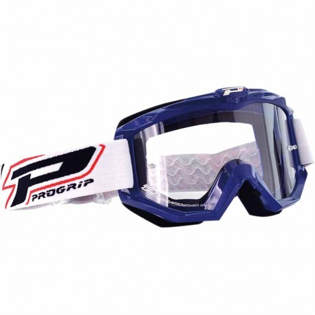 Masque Cross Progrip 3201 Atzaki - Bleu