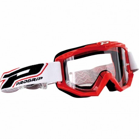 Masque Cross Progrip 3201 Atzaki - Rouge