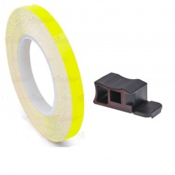 LISERET JAUNE FLUO 7mm DE LARGE SUR 6m DE LONG JANTE CARENAGE MOTO MAXI SCOOTER