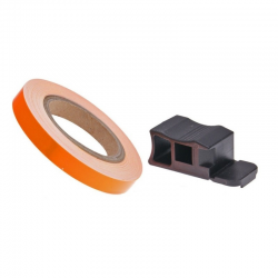 Liseret orange fluo 7mm de large sur 6m de long jante carénage moto maxi scooter