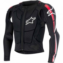 Gilet de protection cross Alpinestars Bionic plus Noir/Rouge/Blanc