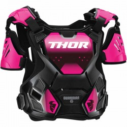 Pare-pierre femme moto cross THOR Guardian Noir/Rose