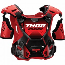 Pare-pierre enfant moto cross THOR Guardian Noir/Rouge