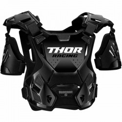 Pare-pierre enfant moto cross THOR Guardian Noir/Silver