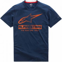 T-shirt homme Alpinestars Source Ride Dry Bleu marine