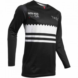 Maillot moto cross homme Thor Prime Pro Baddy Noir / Blanc