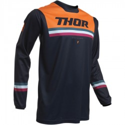 Maillot moto cross homme Thor Pulse Pinner Bleu nuit / Orange