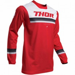 Maillot moto cross homme Thor Pulse Pinner Rouge / Blanc