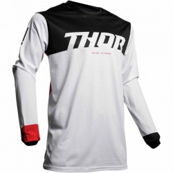 Maillot moto cross homme Thor Pulse air Factor blanc / rouge
