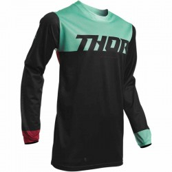 Maillot moto cross homme Thor Pulse air Factor noir / vert
