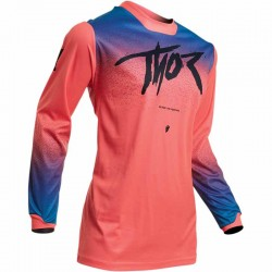 Maillot moto cross femme Thor Pulse Fader corail